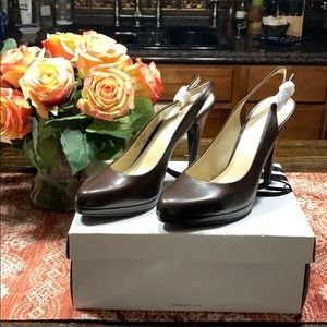 Nine West Realluvo brown heels 7.5